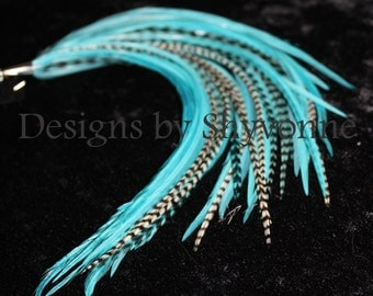 Turquoise Mint Feather Earrings