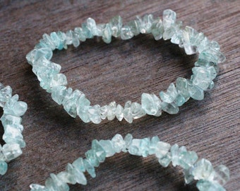 Aquamarine Stretchy String Bracelet B96