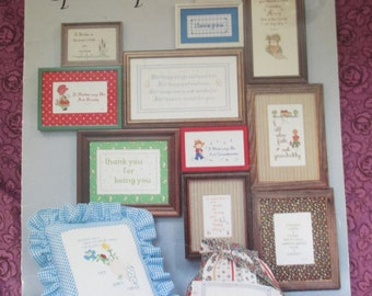 Counted Cross Stitch Pattern Booklet Special People used Sayings