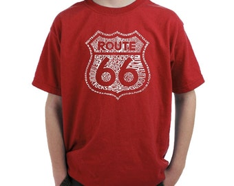 Boy's T-shirt -Route 66 - Get Your Kicks