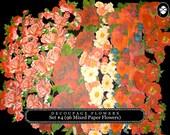 Die Cut Decoupage Flowers Set #4- (96 Mixed Paper Flowers)