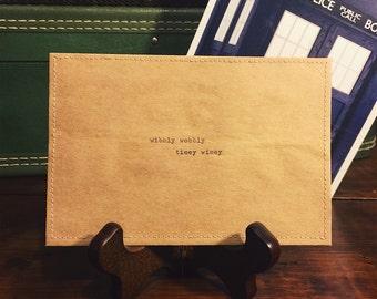 wibbly wobbly timey wimey postcard