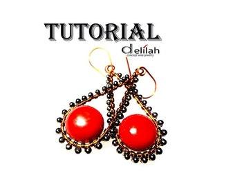 Wire Wrap Earrings Jewelry Tutorial Wire Wrap Tutorial Wire Jewelry Tutorial Copper Earrings Tutorial Earrings Jewelry Tutorial Wirework