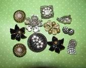 Vintage Mismatched Earrings Lot for Parts Crafts Rhinestone Beaded Destashed