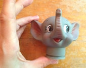 vintage dumbo elephant doll head rubber craft supply nos deadstock