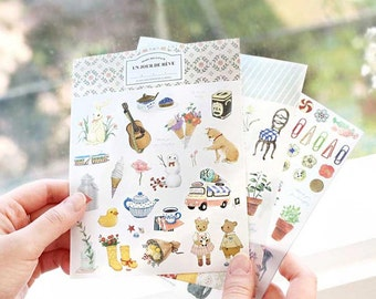 DIY Scrapbook Sticker Label Iconic Diary Deco Pack Ver 5 (9 sheets)