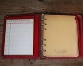 Bright Red Address Book