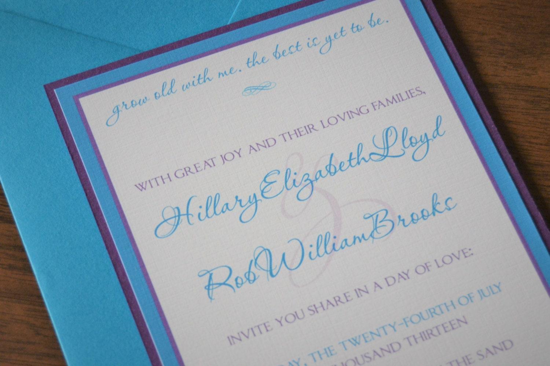 Blue Orchid Wedding Invitations: Dendrobium Orchid Wedding Invitation Blue Orchid Wedding