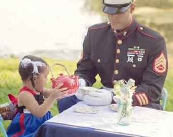 Marine Corps Dress Blues Dress-Option 1-Long Dress