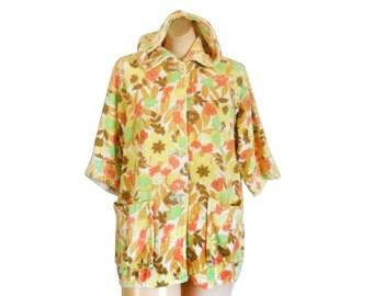 Vintage Bathing Suit Cover Up 50s Swim 60s Swimsuit Cover Up 1960s Beach Swimsuit Coverup Swimming Suit Cover Beach Cover Up Beach Coverup
