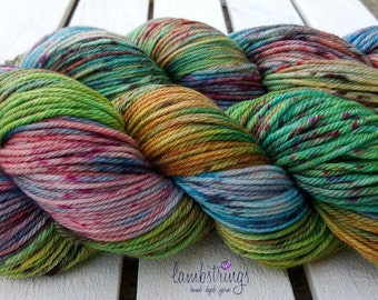 Ewetopia Worsted, Hand dyed yarn, Superwash Merino Wool, 218 yds/ 100g: Graffiti.
