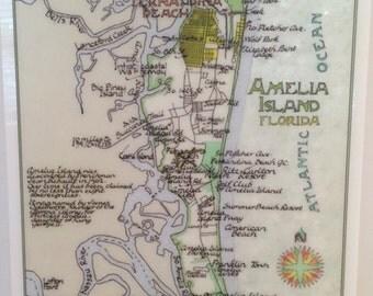 Amelia Island, Florida, on Plexiglass