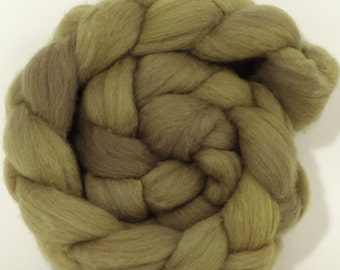 Organic Polwarth Roving (Top)- Weld, Logwood - Naturally Dyed  Spinning or Felting Fiber - 4.4 oz.