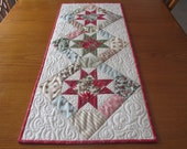 Christmas Star Quilted Table Runner Moda Under The Mistletoe 3 Sisters