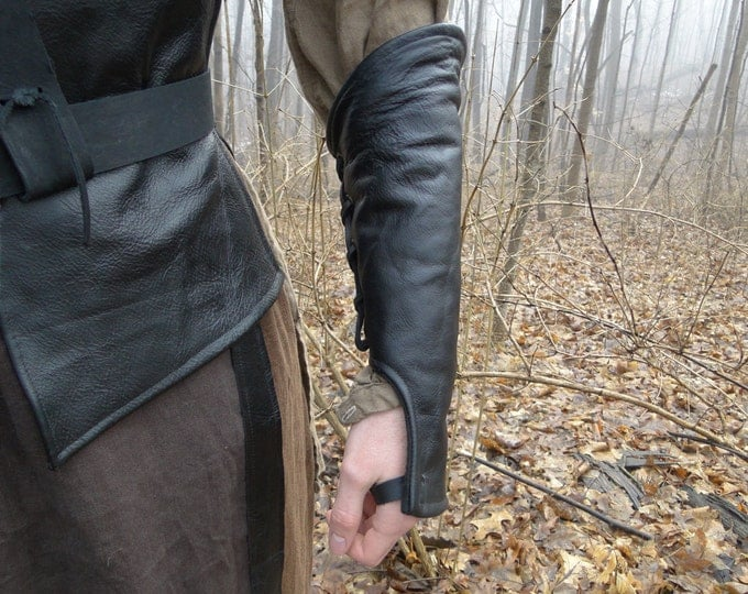 Leather Lace up Ranger Under Bracers / Gloves Pair - Mens, Choose Your Size