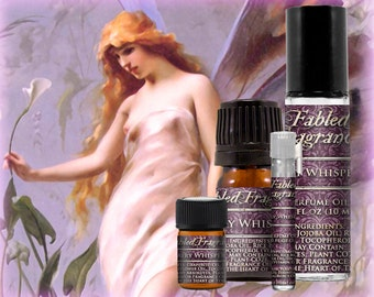 FAIRY WHISPERS Perfume: Fantasy Fragrance, Ripe Raspberry, Asian Pear, Sweet Frangipani, Vegan Solid Perfume, Ships Out in 5-7 Days
