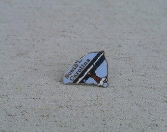 Vintage South Carolina Enamel State Pin