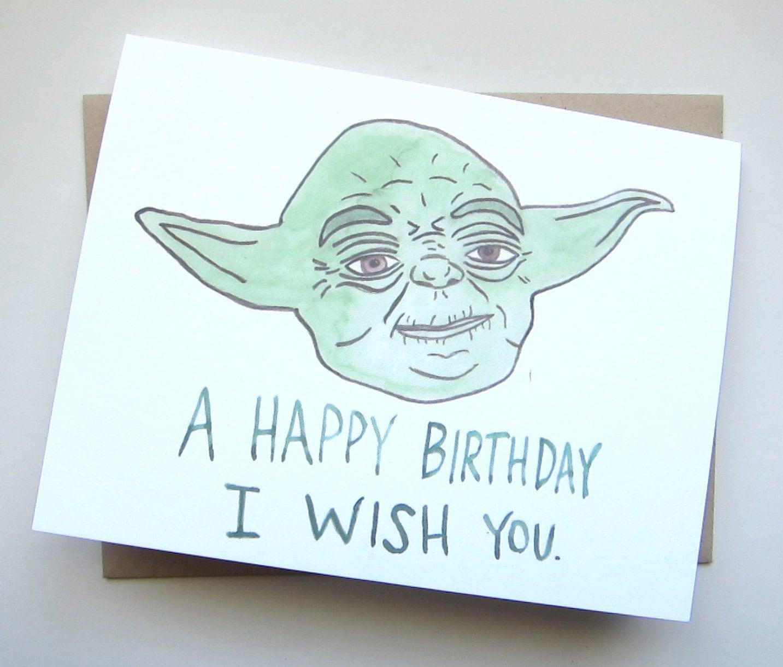 Star Wars Birthday// Yoda Card