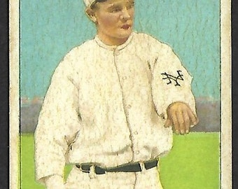 new just in 1912 t227 rube marquard honest long cut back card