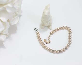 1950s Rhinestone Pearls -Sweet 16, Tween Jewelry / Blush Pink. 12 - 14 inch.
