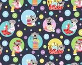 Sewing Bears (Gray) - MIchael Miller Fabrics - 1 Yard