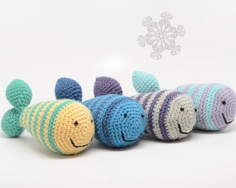 Custom Striped Fish Rattle - Choose Your Colors