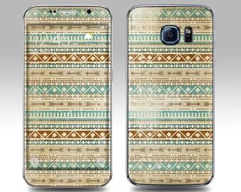 AZTEC FADED Galaxy Decal Galaxy Skin Galaxy Cover Galaxy S6 Skin, Galaxy S6 Edge Decal Galaxy Note Skin Galaxy Note Decal Cover