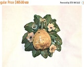 33% OFF SALE Hubley 1920s Door Knocker Pear and Blooms Wonderful, Works Swell, Vintage