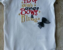 San Francisco 49ers Bows and Bling Shirt