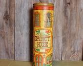 Metal Storage Tin Retro Food Canister Difiori's Spaghetti House Fine Italian Food Vintage 1970s 70s (B)