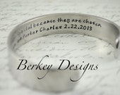 Godmother Gift Godmothers are Special because they are Chosen Secret Message Hand Stamped Bracelet- Personalized Bracelet