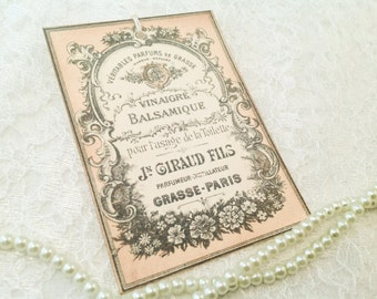 Perfume Gift Tags-Vintage Inspired Advertising Gift Tags Perfume Label-Set of 6