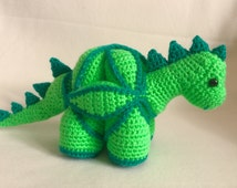 Crochet Amamani Puzzle Ball Dinosaur Handmade Animal Wool Soft Toy Gift
