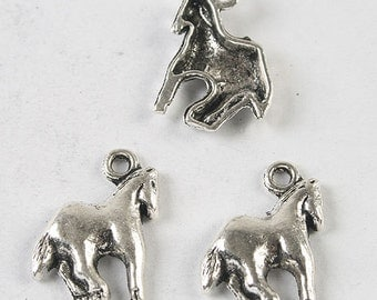 Horse Charm 1 Charm Antique Silver Tone 18 x 16 mm - sc320