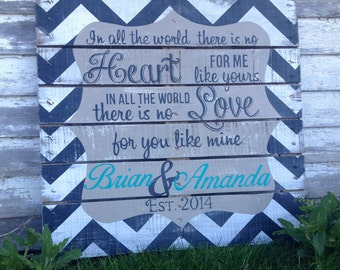 Custom Hand Painted Wedding Sign