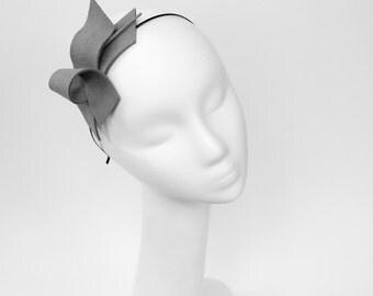 Grey Felt Fascinator Headband