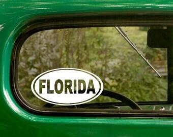 2 Florida Decals Oval Sticker For Car Truck Jeep Rv Bumper Window Laptop 4x4