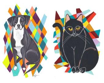 Custom Pet Portrait / Original Painting of Your Pet