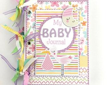 Baby Girl Scrapbook Journal Mini Album Kit or Premade Newborn Gift