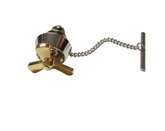 Gold and Silver Propellor Tie Tack