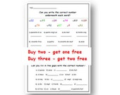 NUMBERS FRENCH WORKSHEET ,Matching & Sequences Activities,Classroom and Homeschool Printable Resources,Learn French Numbers with Worksheet