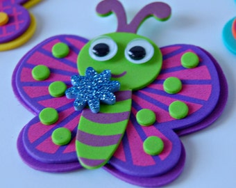 Foam Butterfly Craft Kit, Magnet Craft, Party Activity, Children's Crafts