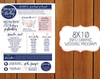 8X10 Info Graphic Wedding Program