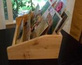 Postcard Display, Woodworking Display, Rustic Cedar Display, Card Holder, Organization, Design by Dan Leasure