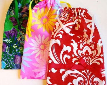 Gift Bag, reusable drawstring bag for gift giving - American Made