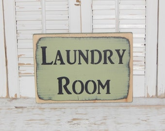 Laundry Room Sign Decor Country Rustic Decor Distressed Sign Ready To Ship