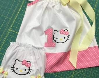 Hello Kitty Birthday Ribbon *Pillowcase* Dress