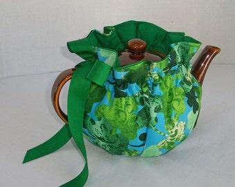 Lucky Shamrocks Snuggie Tea Cozy, Reversible, 3 sizes
