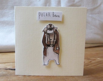 Polar Bane Christmas Card with envelope - The Dark Knight Rises - Batman - 105mm x 105mm (folded)