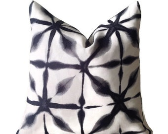 Schumacher Andromeda in Charcoal Decorative Pillow Cover